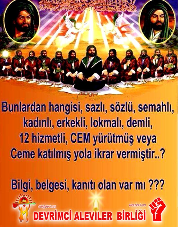 1 Hz imam Ali divani Alevi bektasi kizilbas pir sultan devrimci aleviler birligi DAB Feramuz Sah Acar 12imam DAB