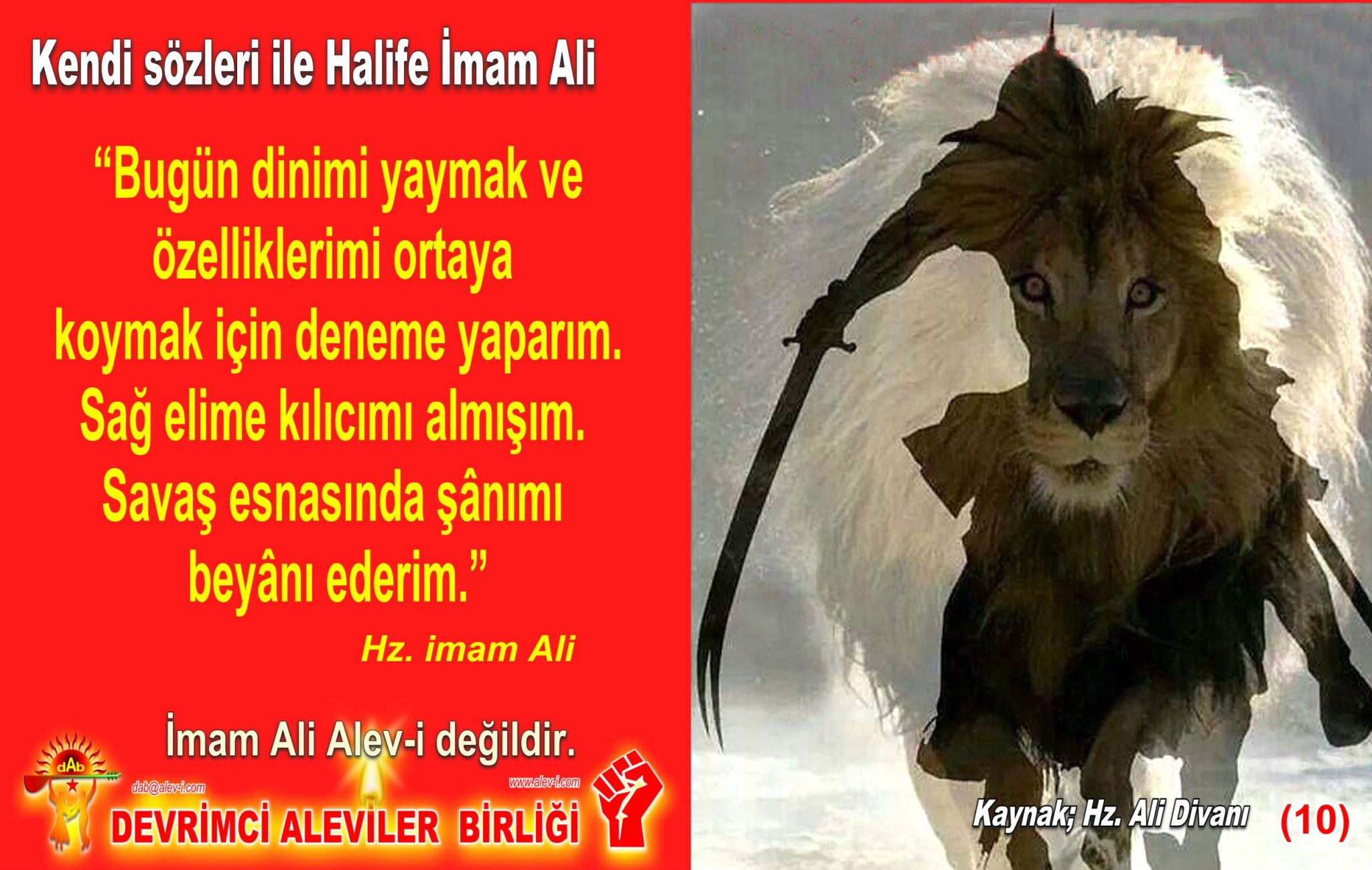 10 Hz imam Ali divani Alevi bektasi kizilbas pir sultan devrimci aleviler birligi DAB Feramuz Sah Acar