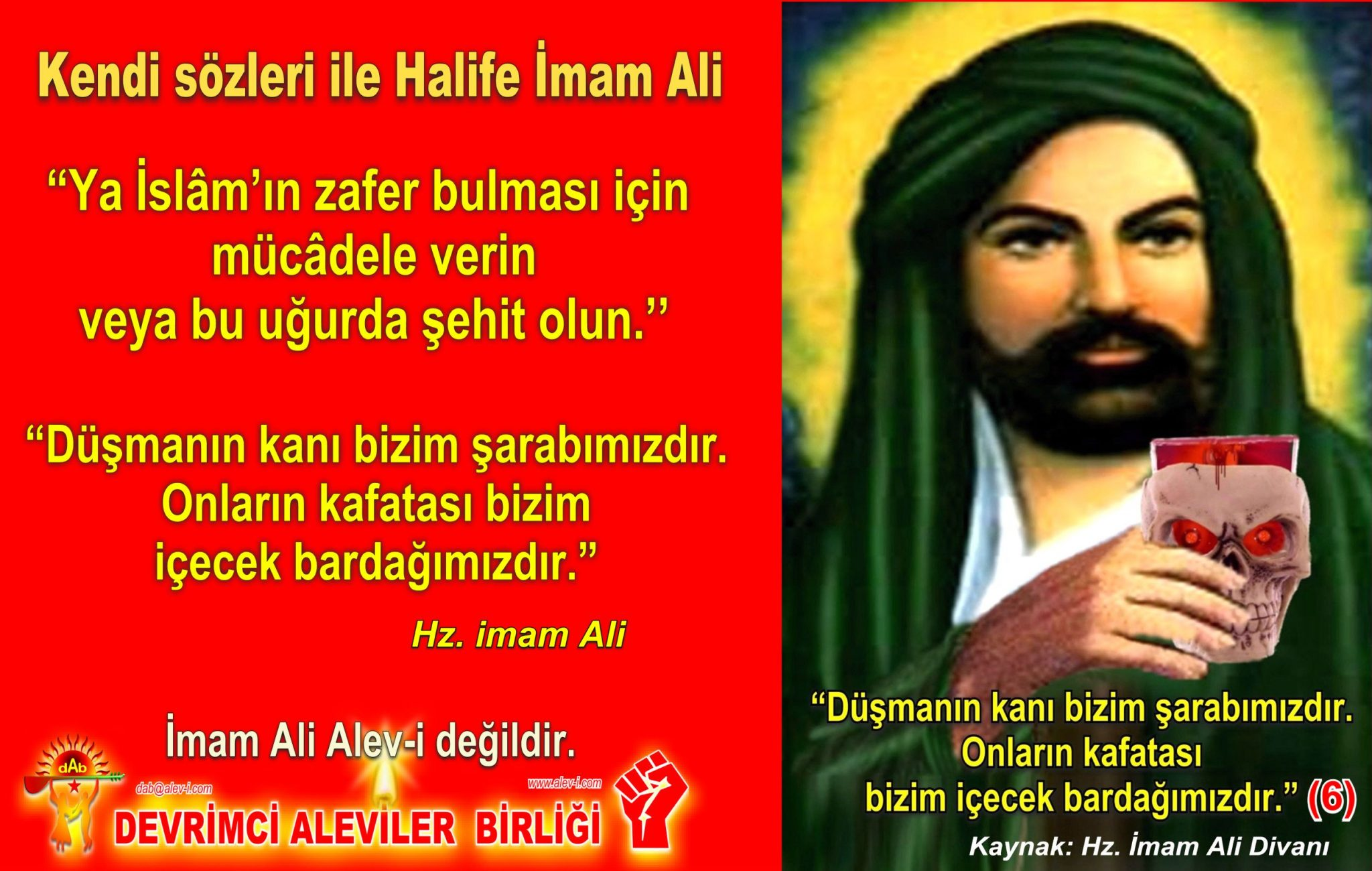 6 Hz imam Ali divani Alevi bektasi kizilbas pir sultan devrimci aleviler birligi DAB Feramuz Sah Acar