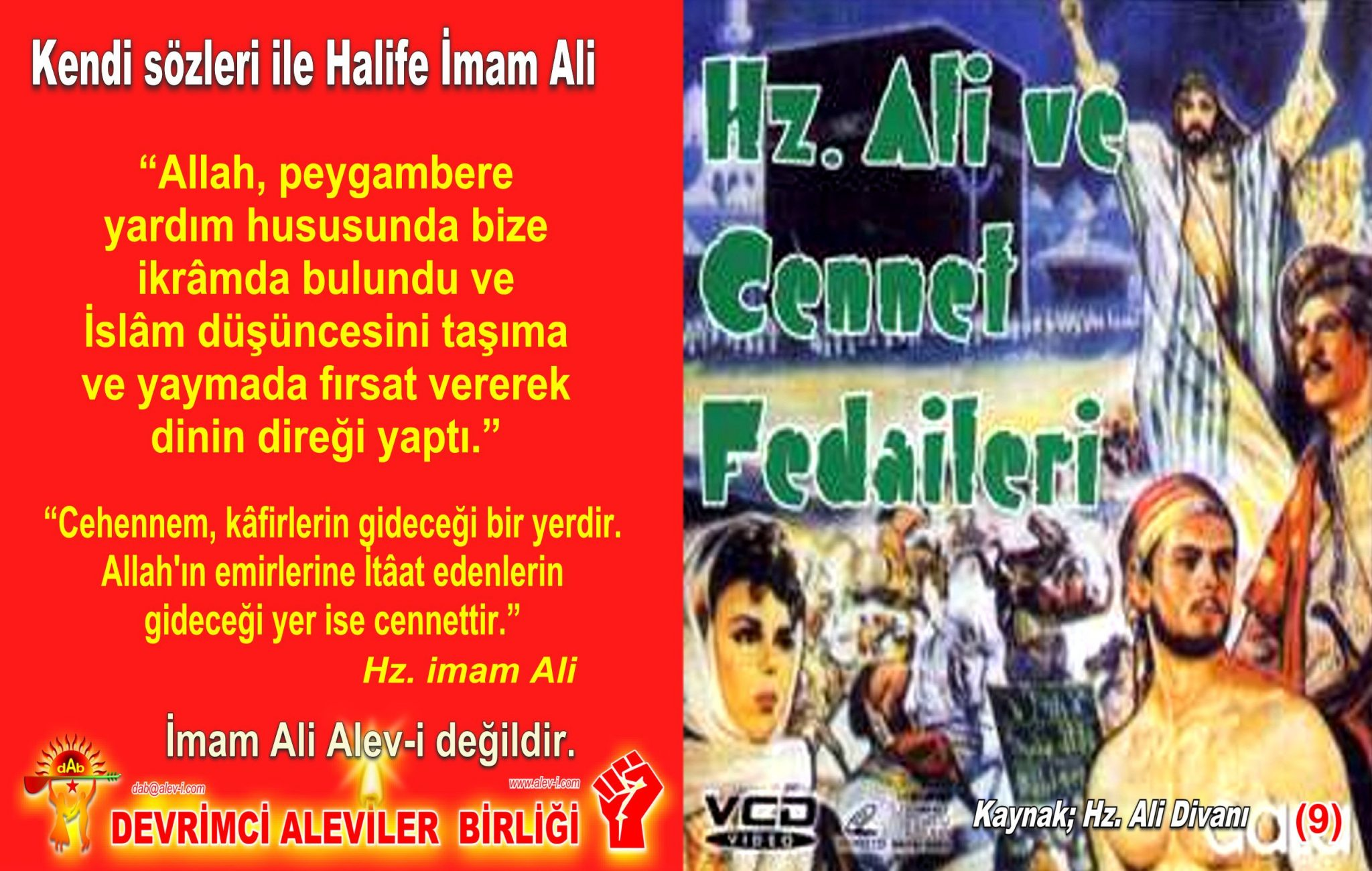 9 Hz imam Ali divani Alevi bektasi kizilbas pir sultan devrimci aleviler birligi DAB Feramuz Sah Acar