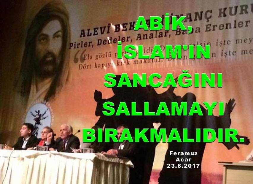 DAB devrimci Alevi bektassi kizilbas cem cemevi Feramuz Sah Acar ABik