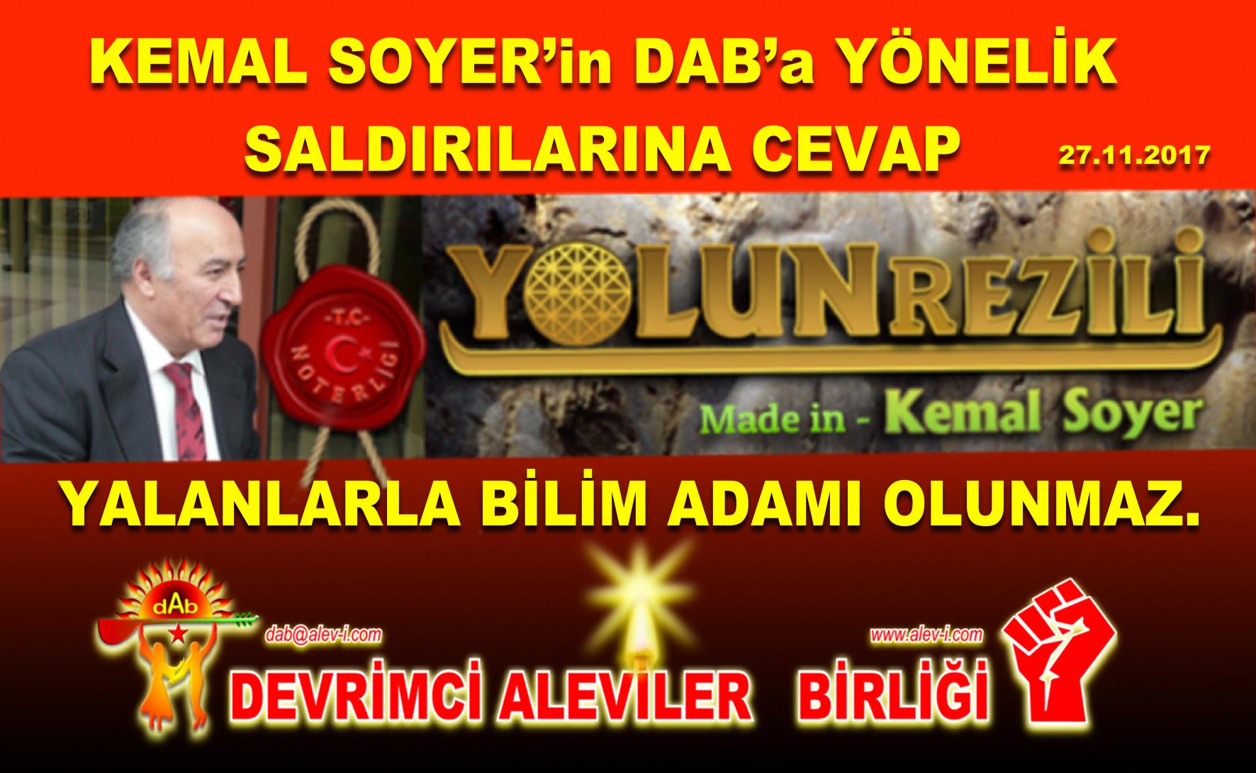 kemal soyer kapak Yolun ezeli Alevi cem semah Bektaşi kızılbaş pir sultan devrimci Aleviler DAB Acar