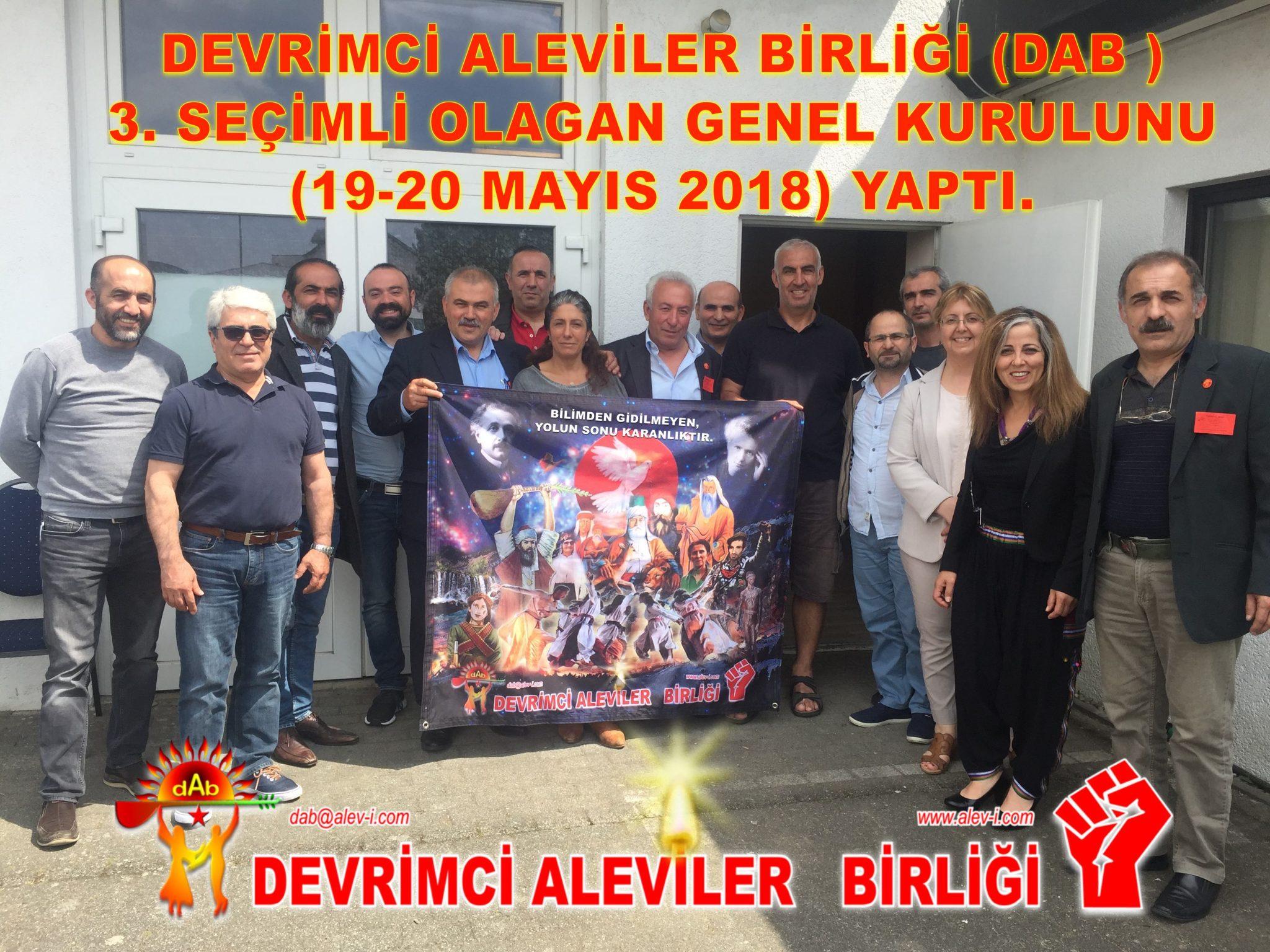 DAB 3 GENEL KURUL BASIN AÇIKLAMASI devrimci aleviler birliği cem kızılbaş bektaşi hak yolu Pir Sultan