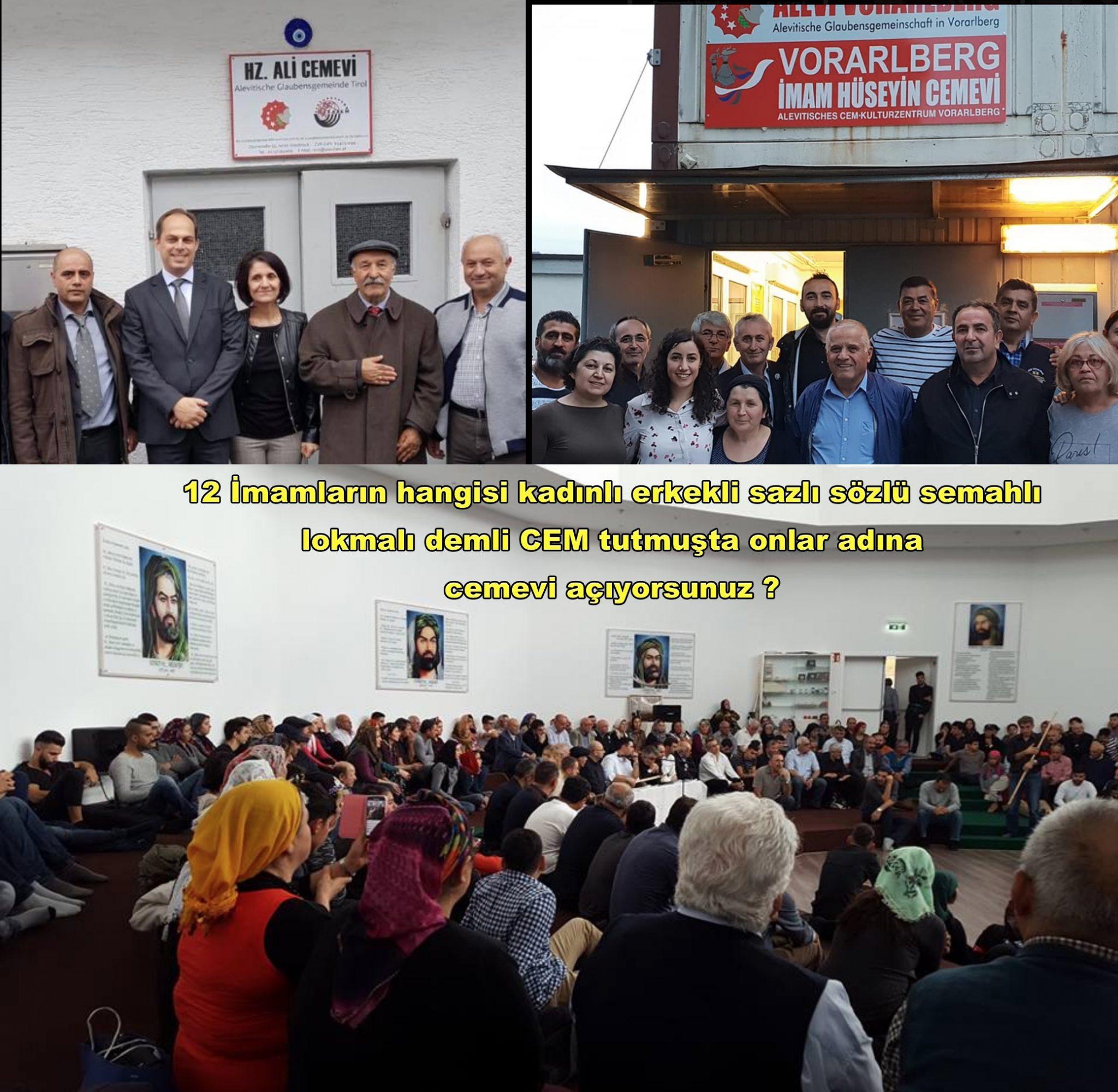 5 Avusturya Alevi islamcı Aleviler  DAB devrimci Aleviler Birliği 12 imam cemevi