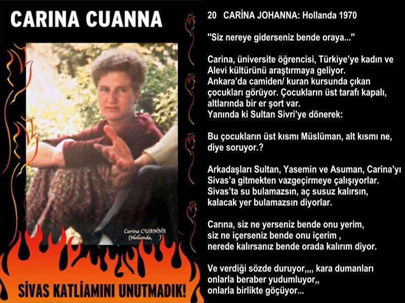 Carina Cuanna DAB Fevrimci Aleviler Birliği F Acar