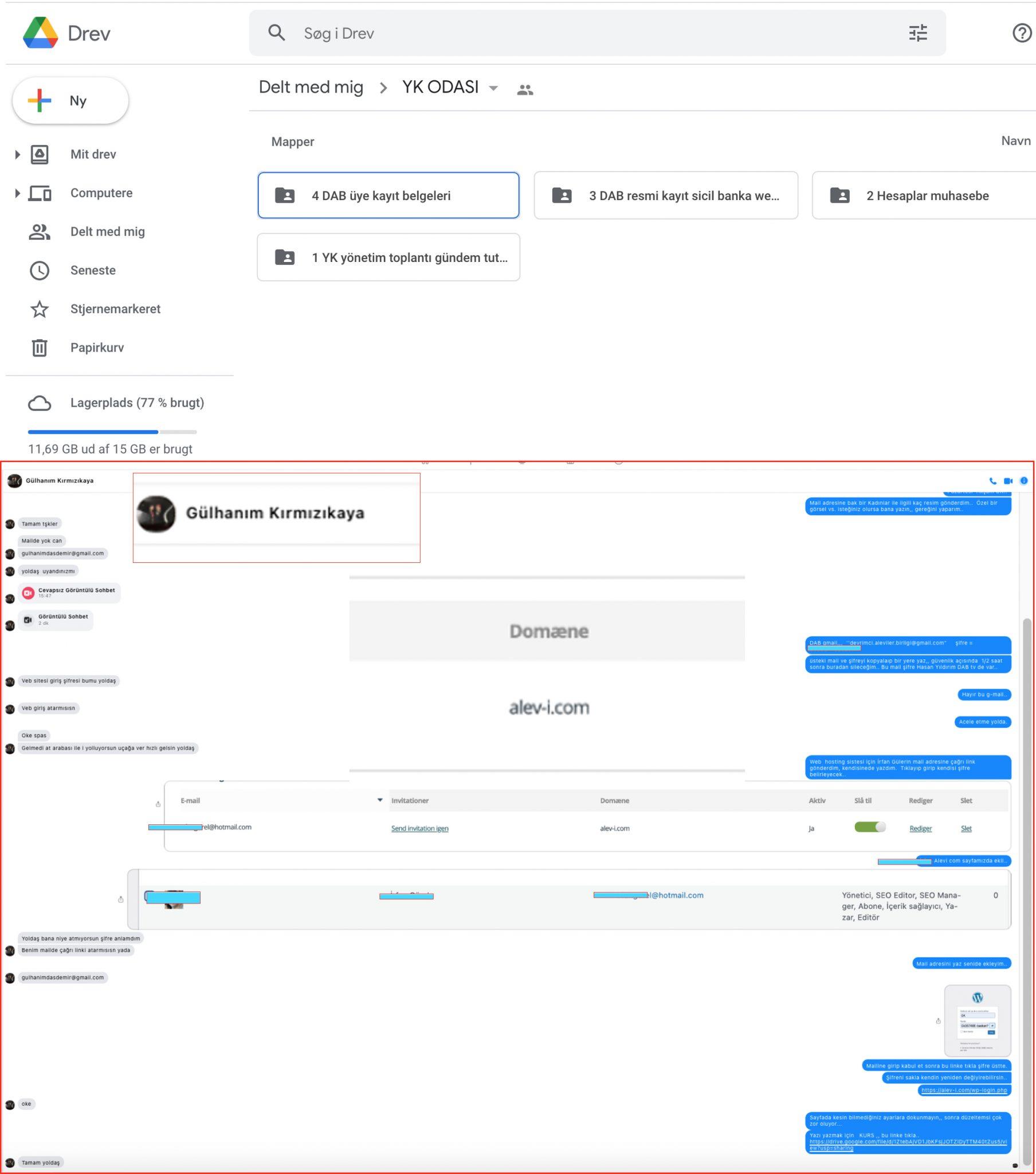 B6 DAB goggle drev ve web sayfa şifreleri