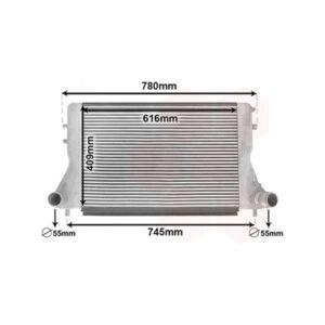 Intercooler sobredimensionado Nissens | VAG | 2.0 TFSI