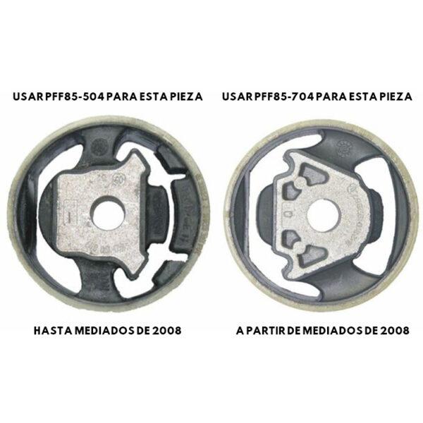 Silentblock de poliuretano para taco de la caja de cambios | VAG < 2008 | Powerflex | PFF85-504