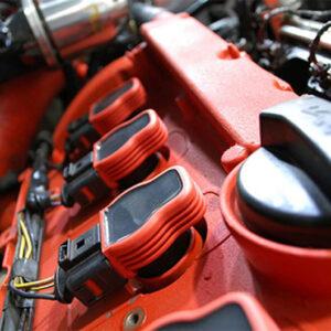 Bobinas de encendido rojas NGK tipo Audi R8   Válidas para 2.7T, 4.2 FSI y 3.0 TFSI