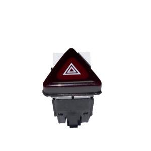 Botón warning VW   Color cereza