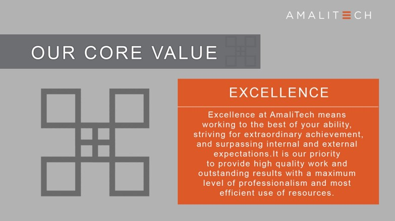 Core Value of Excellence