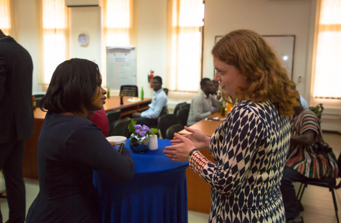 Interaction between staff and partner