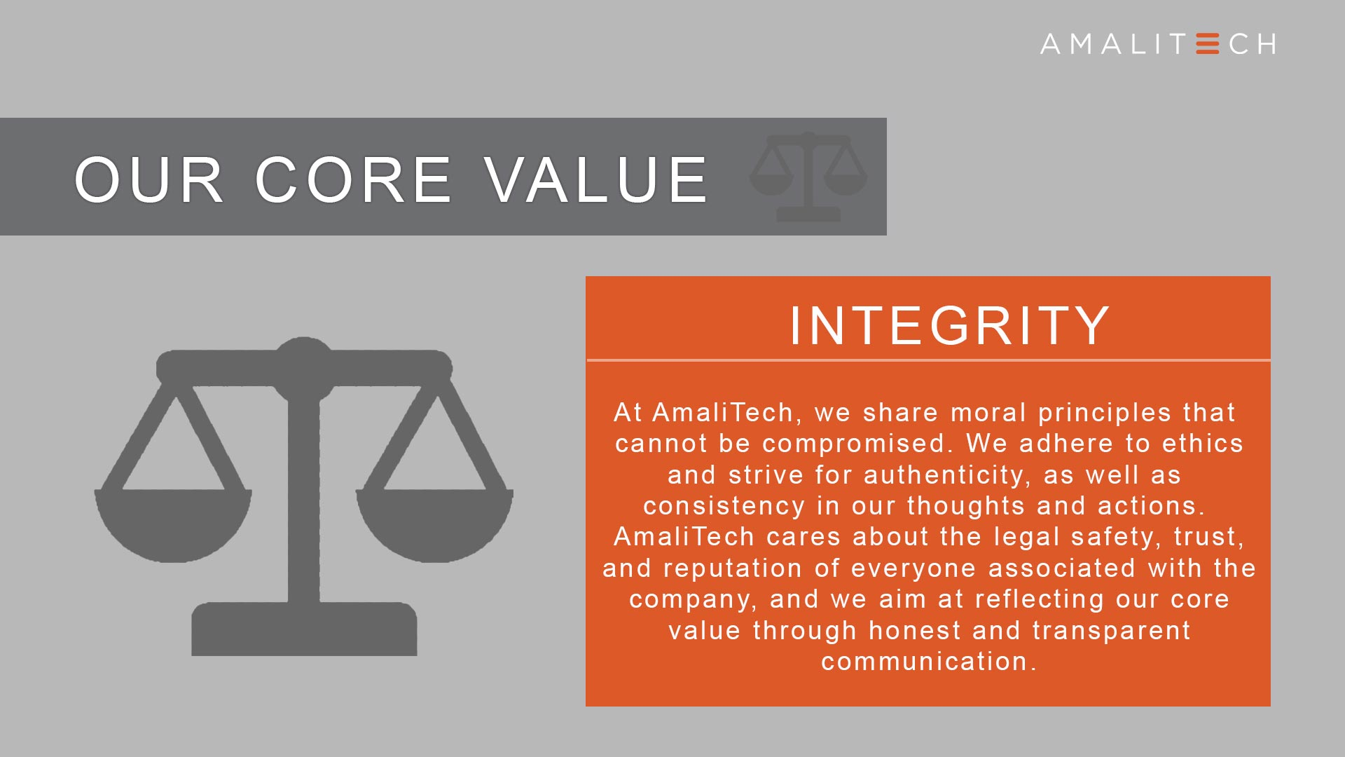 Core Value of Integrity