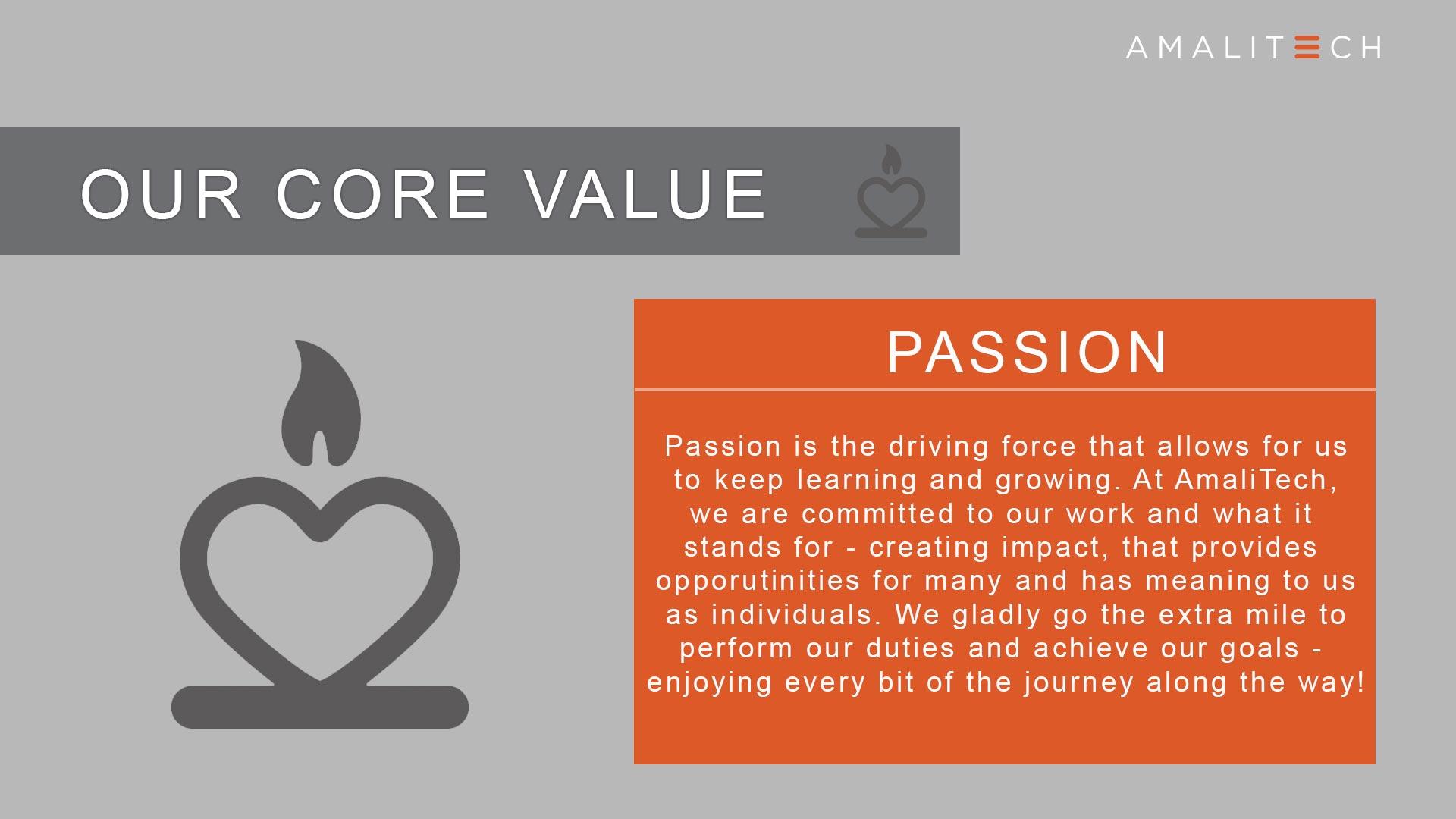 Core Value of Passion