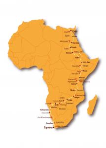 Transafrica routekaart