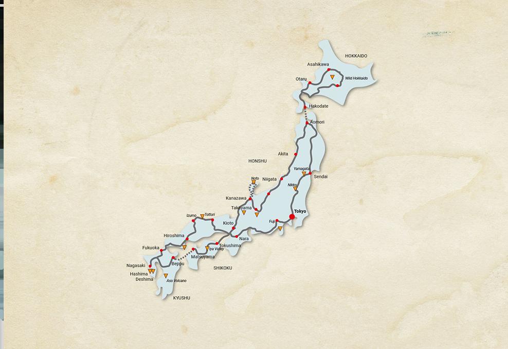 Shogun Trophy Route