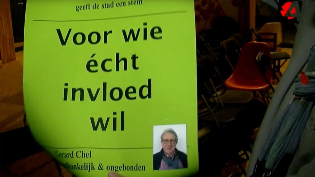 Gerard Chel (Lijst 10) wil de stad een stem geven