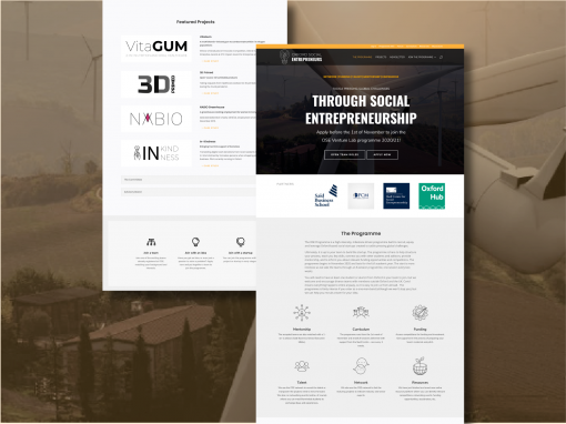Designing and building a platform supporting aspiring social entrepreneurs to change the world
