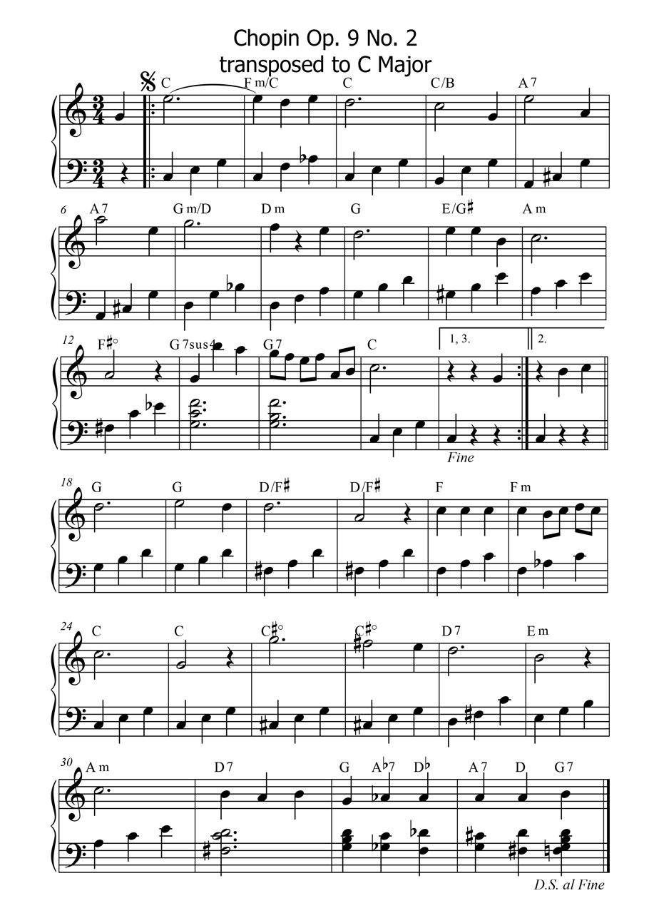 Chopin Nocturne Op 9 No2 Andrea Monk