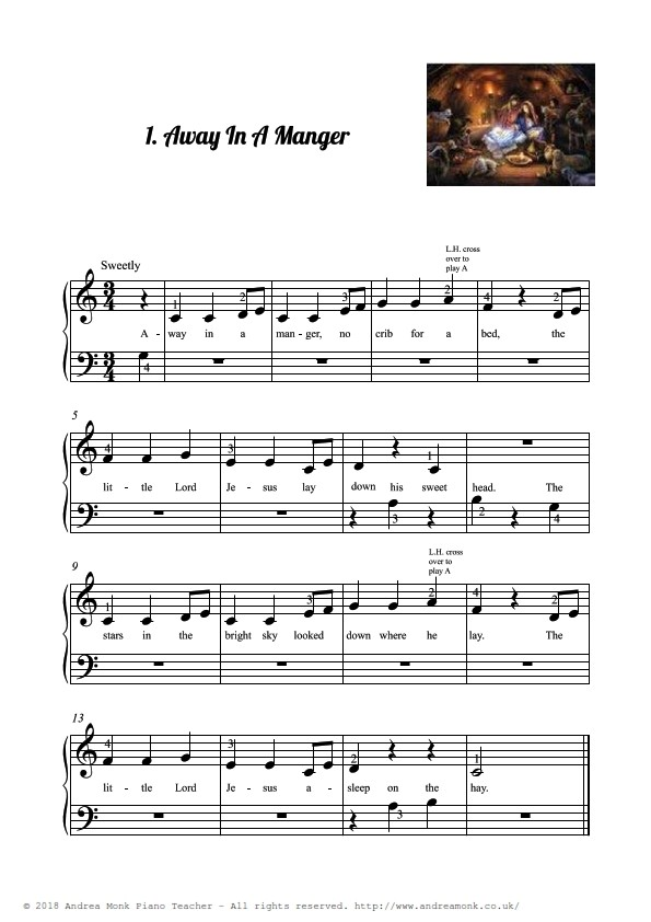 Beginner Piano Christmas Carols page 3