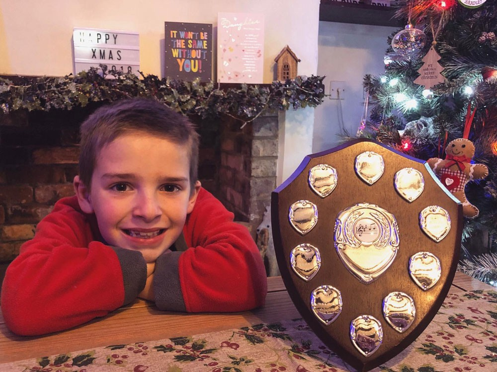 Callum Age 8 Trophy Winner