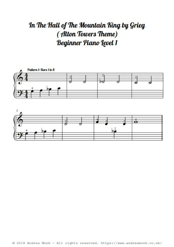 In The Hall Of The Mountain King sheet music