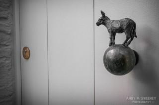 Donkey door in Brugge, Belgium