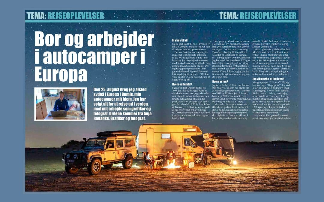 My first article in Campingbladet.dk