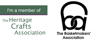 Basket Weaving Accreditation Logos. The Heritage Crafts Association and The Basketmakers' Association