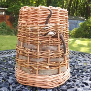 Berry basket with bark and drift wood detail