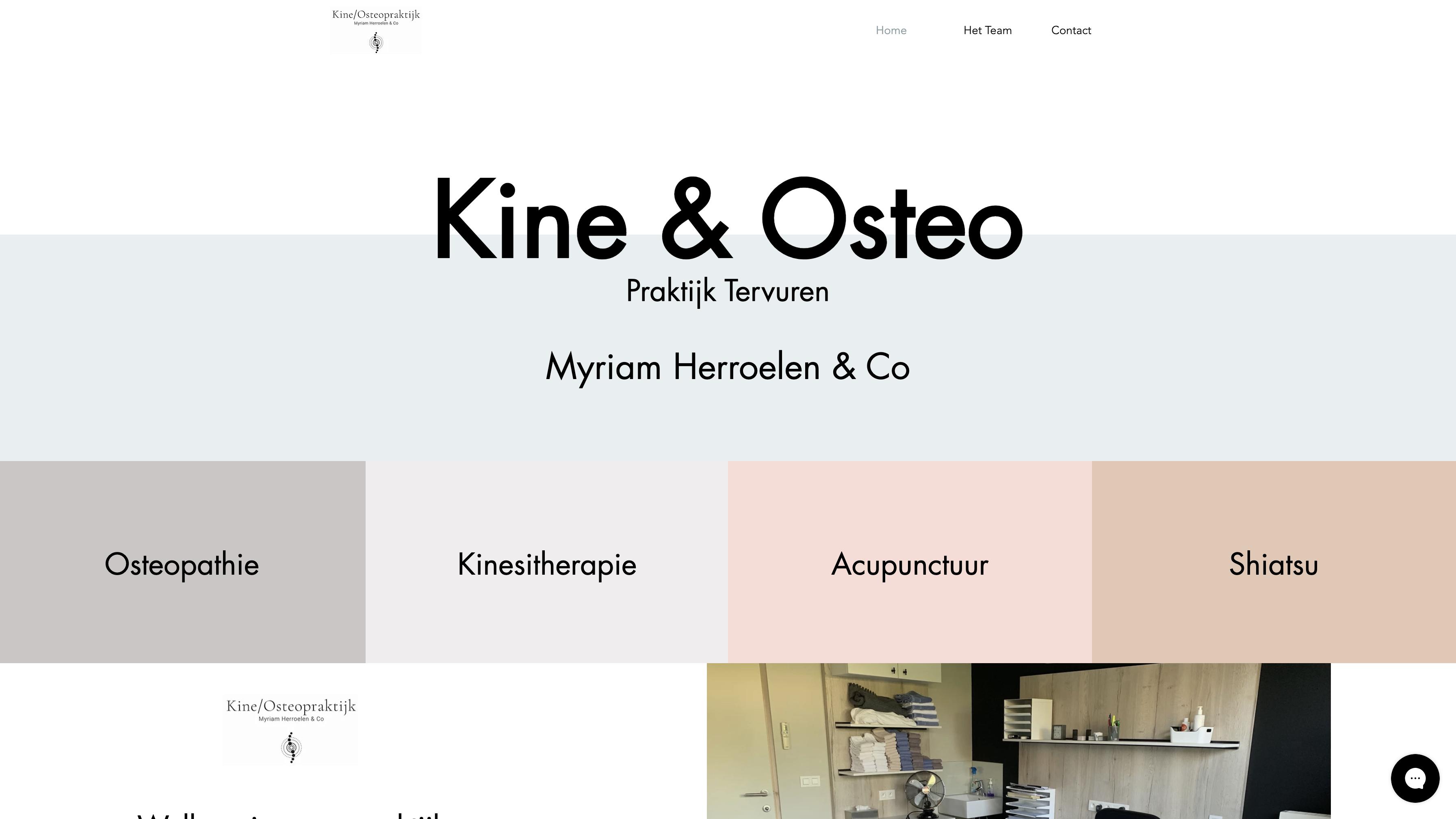 Webdesign Kiné & Osteo Tervuren
