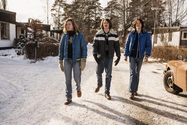 De dagar som blommorna blommar, Erik Munksås (Dante Wiechel), Benny Elofsson (Anton Forsdik) och Mikael Törnblad (Birger Robach).Foto: Peter Cederling /SVT