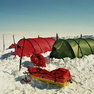 Two tents at the icecap - Greenland
