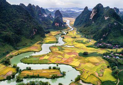 Geographic map of Vietnam