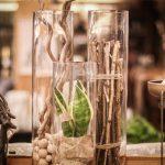 vaser med olika växter i
