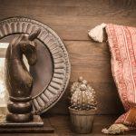 hästhuvud staty kudde kakturfigur