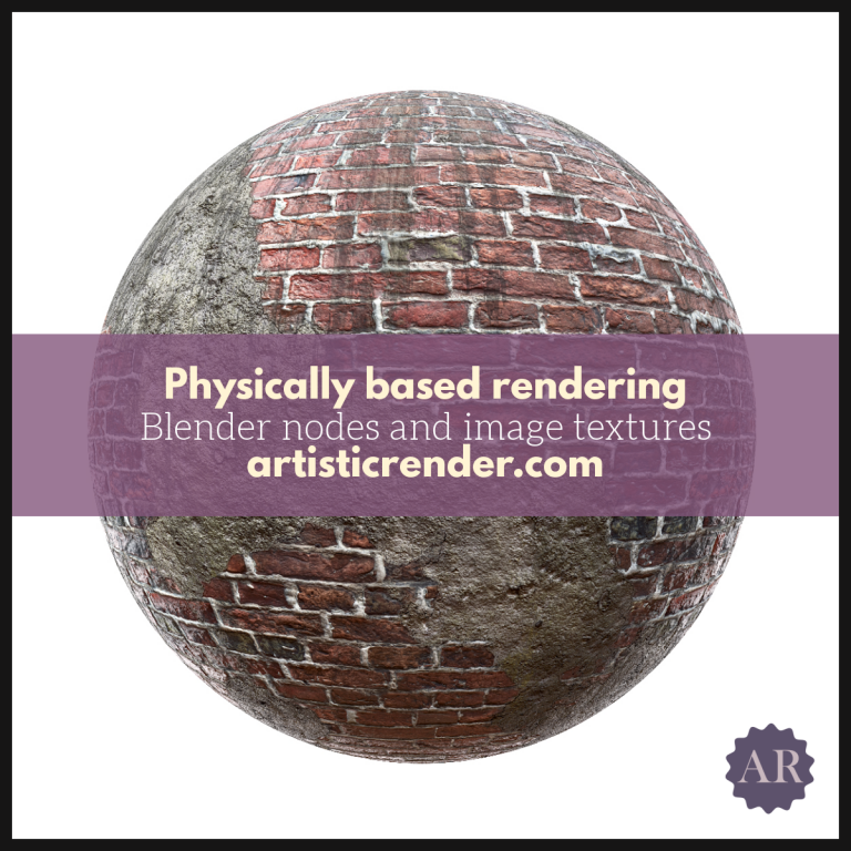 Showcase image for pbr nodes with brick texture example