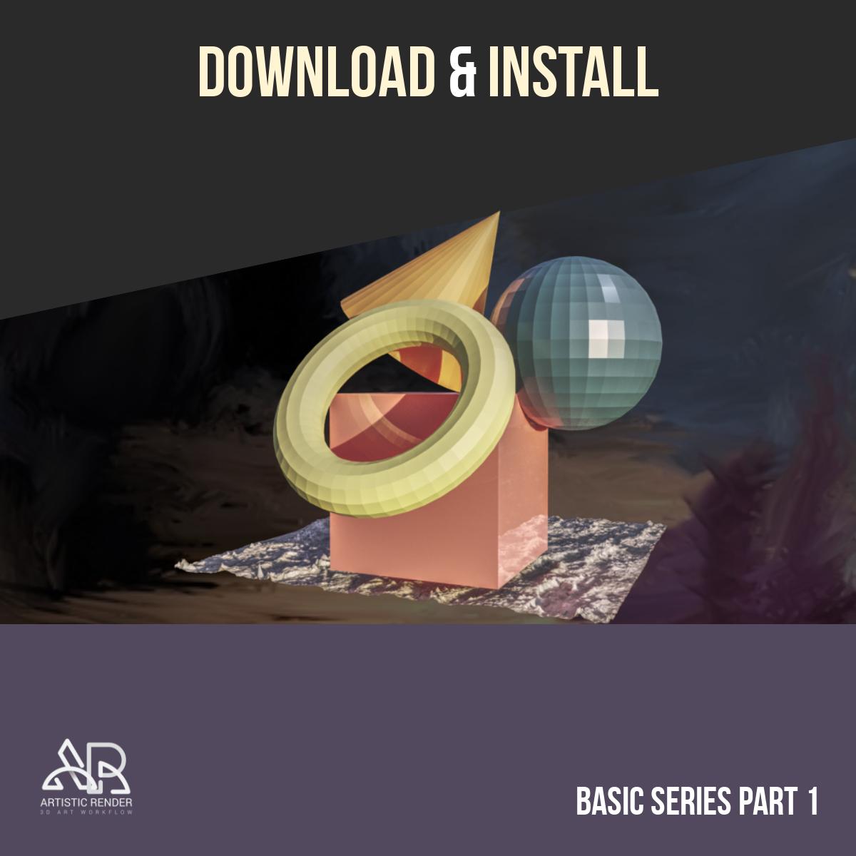 Blender 2.8 download install basics part 1