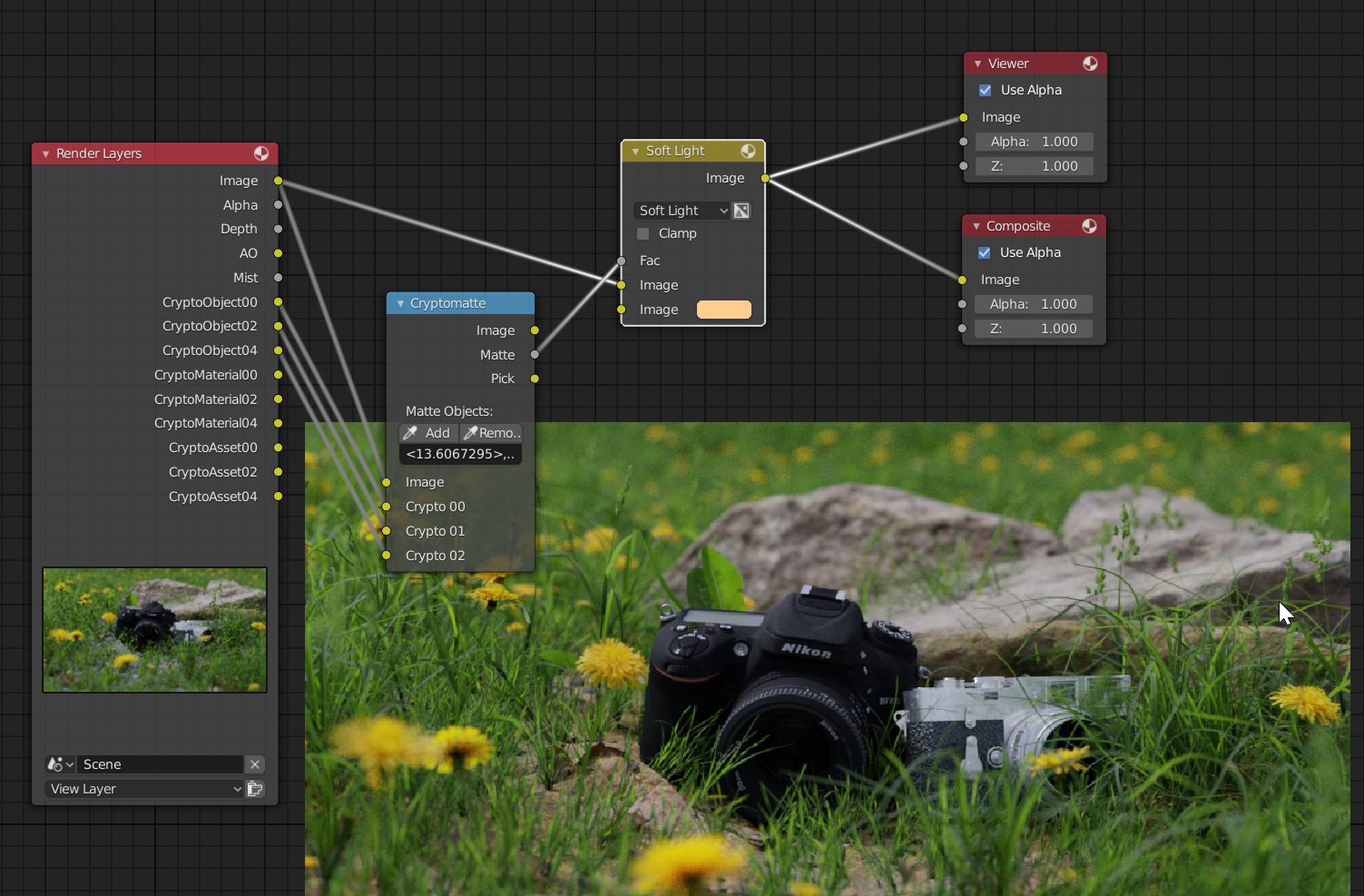 use the mask from the cryptomatte node into the factor of a mix node to blend between the original image and a flat color