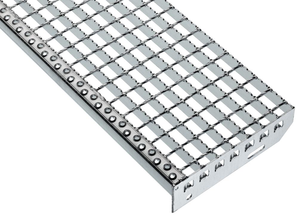 Forde-welded grating treads