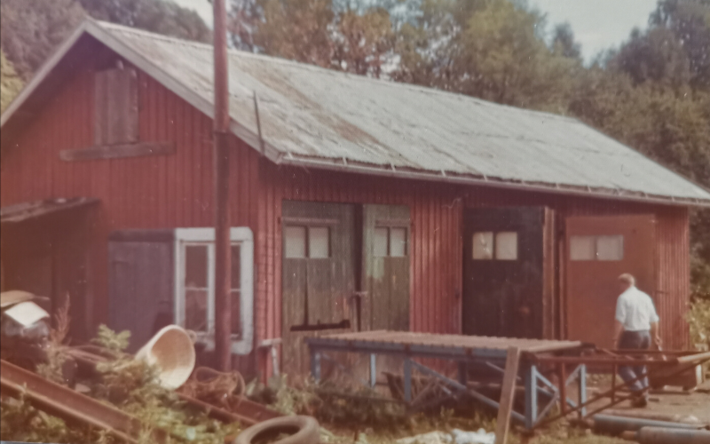 AS BULL, The old forge at Skui, ran by the Stensrud family who processed steel gratings for AS BULL until 1974