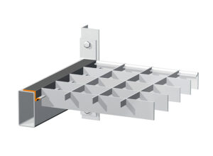 VARIO-PROFILE The vario-profile combines lightness and yet high load-bearing capacity in one grating. The strong, form-locked connection between the bearing bar and banding offers a wide range of variation, which allows very light shelf gratings and thus optimised solutions for your shelving systems.