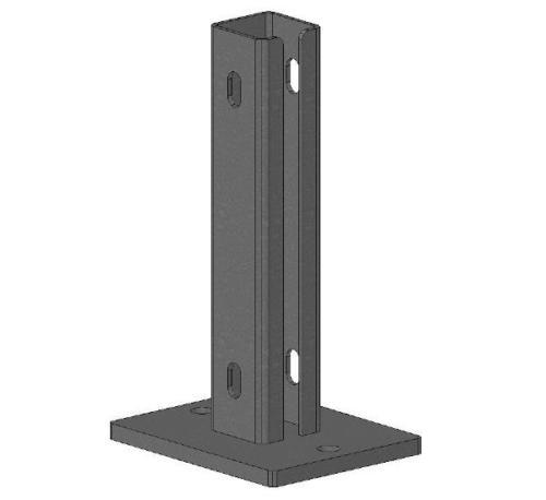 Post feet for GRP-Handrails