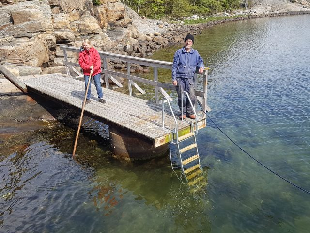 Ny trappa till badbryggan