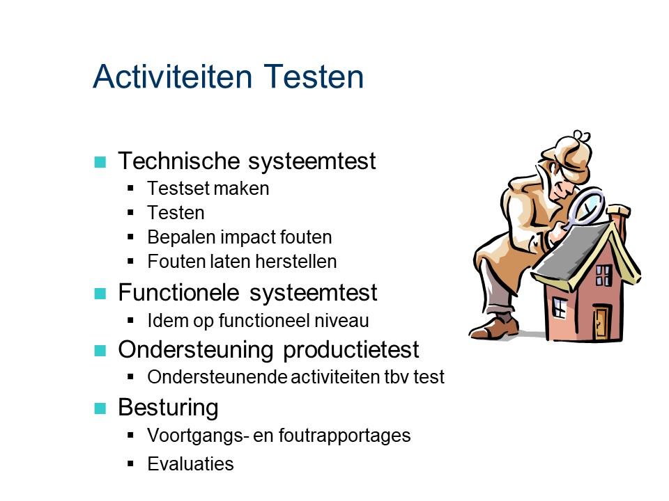 ASL - Testen: Activiteiten