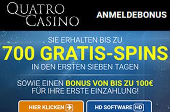 700 Freispiele bei Quatro Casino