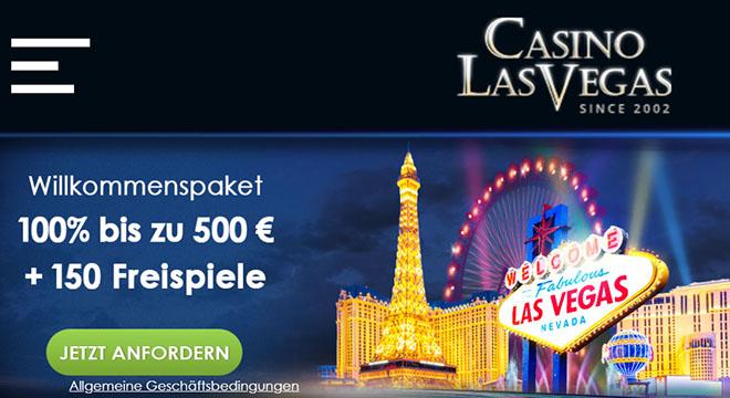 Website der Online Spielbank Casino Las Vegas