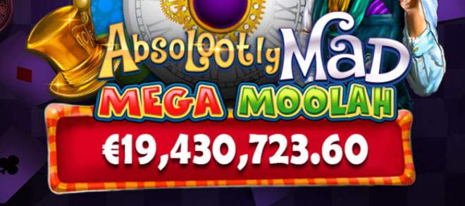 Absolootly Mad: Jackpot-Weltrekord am Mega Moolah