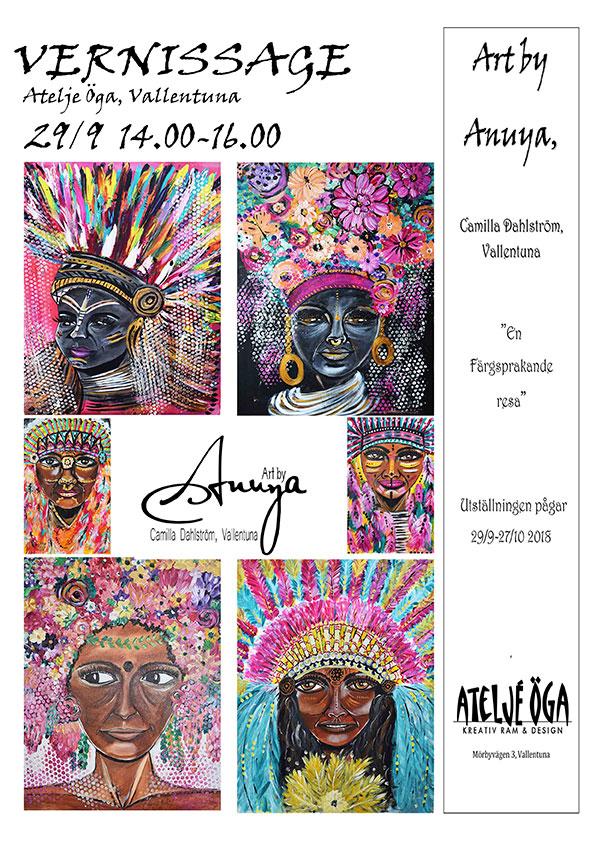 Art by Anuya – oktober månads utställning!