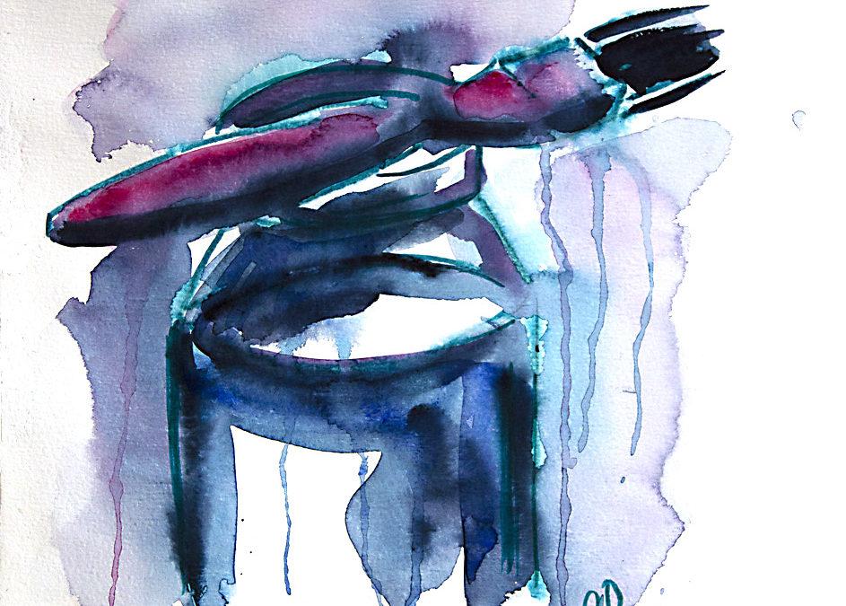 Prova på akvarellmålning